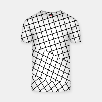 Thumbnail image of geometric square shape pattern abstract background in black and white T-shirt, Live Heroes