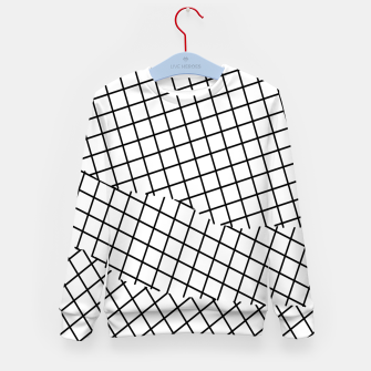 Thumbnail image of geometric square shape pattern abstract background in black and white Kid's sweater, Live Heroes