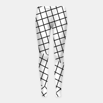 Thumbnail image of geometric square shape pattern abstract background in black and white Girl's leggings, Live Heroes