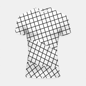 Thumbnail image of geometric square shape pattern abstract background in black and white Shortsleeve rashguard, Live Heroes