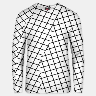 Thumbnail image of geometric square shape pattern abstract background in black and white Unisex sweater, Live Heroes
