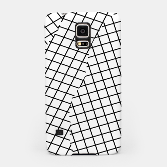 Thumbnail image of geometric square shape pattern abstract background in black and white Samsung Case, Live Heroes