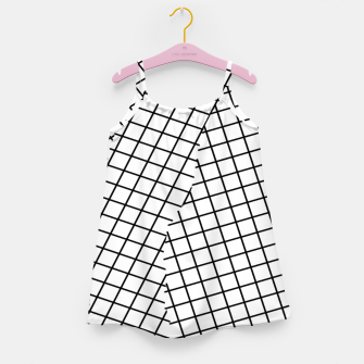 Thumbnail image of geometric square shape pattern abstract background in black and white Girl's dress, Live Heroes