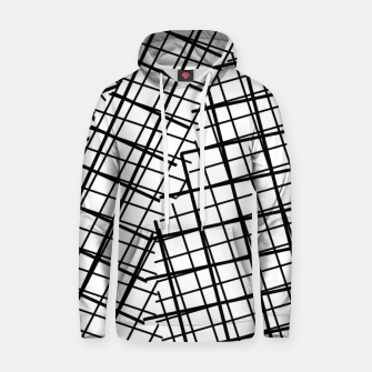 Thumbnail image of geometric square line pattern abstract background in black and white Hoodie, Live Heroes