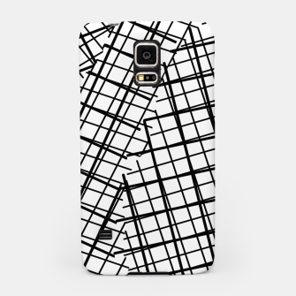 Thumbnail image of geometric square line pattern abstract background in black and white Samsung Case, Live Heroes