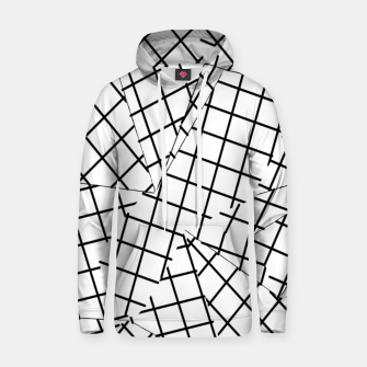 Thumbnail image of geometric square shape line pattern abstract background in black and white Hoodie, Live Heroes