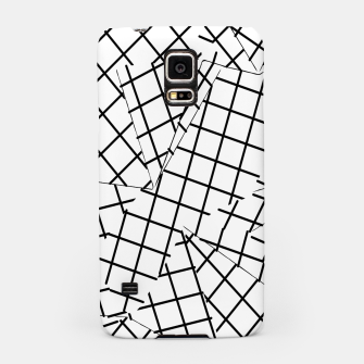 Thumbnail image of geometric square shape line pattern abstract background in black and white Samsung Case, Live Heroes