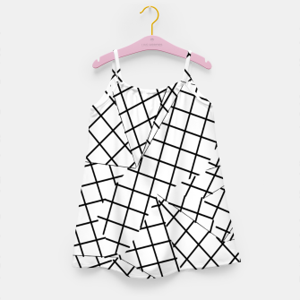 Thumbnail image of geometric square shape line pattern abstract background in black and white Girl's dress, Live Heroes