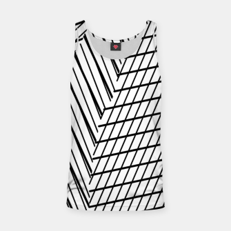 Thumbnail image of geometric square shape line abstract pattern in black and white Tank Top, Live Heroes