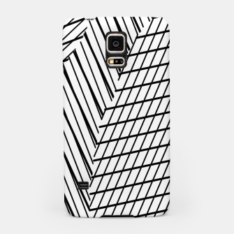 Thumbnail image of geometric square shape line abstract pattern in black and white Samsung Case, Live Heroes