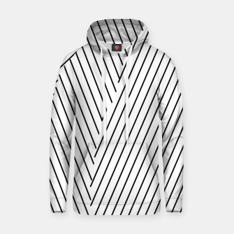 Thumbnail image of geometric line pattern abstract background in black and white Hoodie, Live Heroes