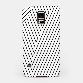 Thumbnail image of geometric line pattern abstract background in black and white Samsung Case, Live Heroes
