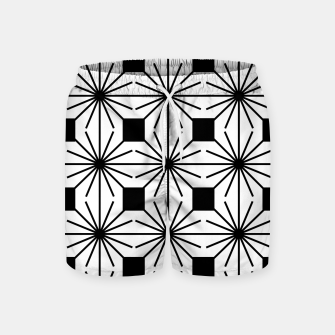 Thumbnail image of Abstract geometric pattern - black and white. Swim Shorts, Live Heroes