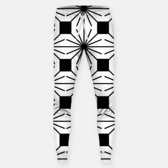 Thumbnail image of Abstract geometric pattern - black and white. Sweatpants, Live Heroes
