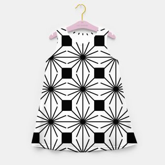 Thumbnail image of Abstract geometric pattern - black and white. Girl's summer dress, Live Heroes