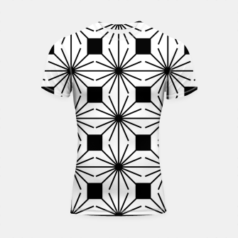Thumbnail image of Abstract geometric pattern - black and white. Shortsleeve rashguard, Live Heroes