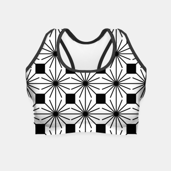 Thumbnail image of Abstract geometric pattern - black and white. Crop Top, Live Heroes