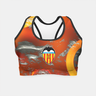 Thumbnail image of Alternative Valencia Orange Magma Crop Top, Live Heroes