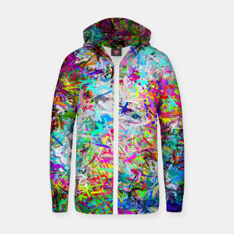 Miniatur Abstract composition Zip up hoodie, Live Heroes