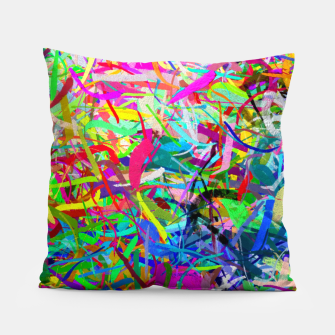 Miniatur Abstract composition Pillow, Live Heroes
