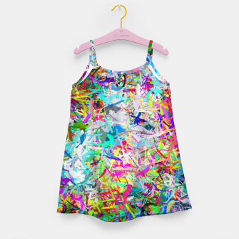 Miniatur Abstract composition Girl's dress, Live Heroes