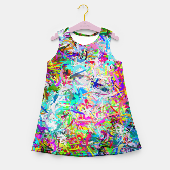 Thumbnail image of Abstract composition Girl's summer dress, Live Heroes