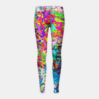 Miniatur Abstract composition Girl's leggings, Live Heroes
