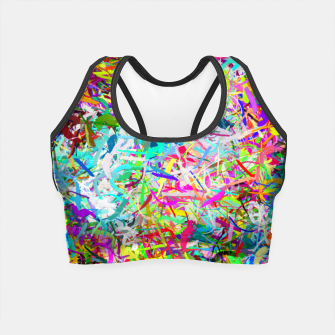 Miniatur Abstract composition Crop Top, Live Heroes