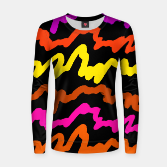 Miniaturka Multicolored Scribble Abstract Pattern Women sweater, Live Heroes