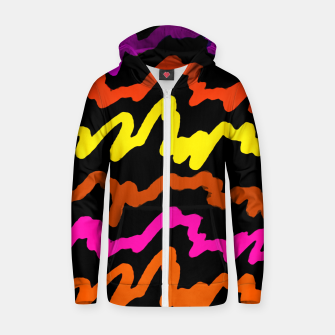 Miniaturka Multicolored Scribble Abstract Pattern Zip up hoodie, Live Heroes