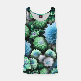 Thumbnail image of Blue Green Dahlias Tank Top, Live Heroes