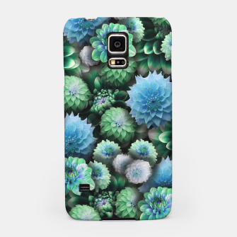 Thumbnail image of Blue Green Dahlias Samsung Case, Live Heroes