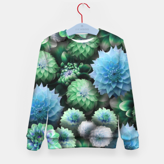 Thumbnail image of Blue Green Dahlias Kid's sweater, Live Heroes