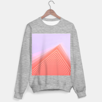 Thumbnail image of Pink Linear geometric minimal Sweater regular, Live Heroes