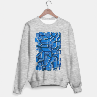 Thumbnail image of Blue Geometric abstract art Sweater regular, Live Heroes