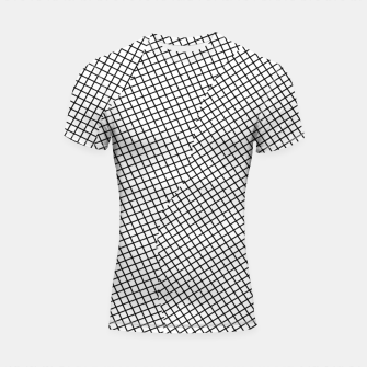 Thumbnail image of geometric square shape line pattern abstract in black and white Shortsleeve rashguard, Live Heroes