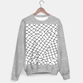 Thumbnail image of geometric square shape pattern abstract background in black and white Sweater regular, Live Heroes