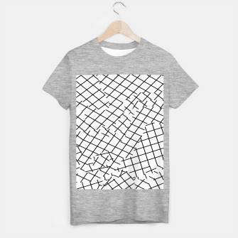Thumbnail image of geometric square shape pattern abstract background in black and white T-shirt regular, Live Heroes