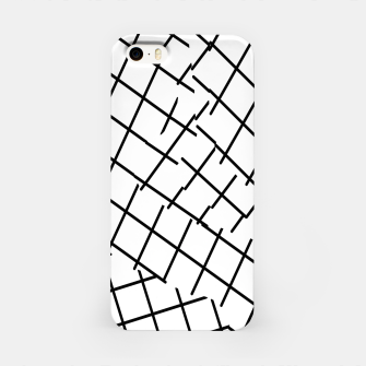 Miniaturka geometric square shape pattern abstract background in black and white iPhone Case, Live Heroes