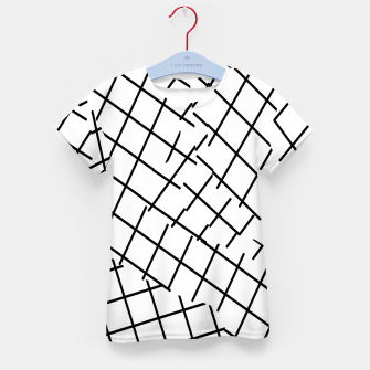 Thumbnail image of geometric square shape pattern abstract background in black and white Kid's t-shirt, Live Heroes