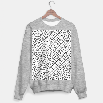 Thumbnail image of geometric square shape abstract background in black and white Sweater regular, Live Heroes