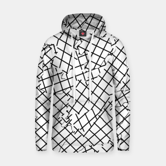 Thumbnail image of geometric square shape abstract background in black and white Hoodie, Live Heroes