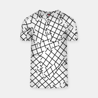 Thumbnail image of geometric square shape abstract background in black and white T-shirt, Live Heroes