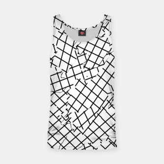Thumbnail image of geometric square shape abstract background in black and white Tank Top, Live Heroes