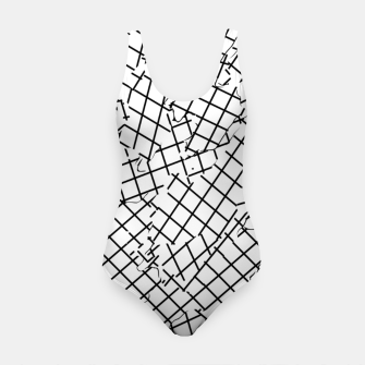 Thumbnail image of geometric square shape abstract background in black and white Swimsuit, Live Heroes