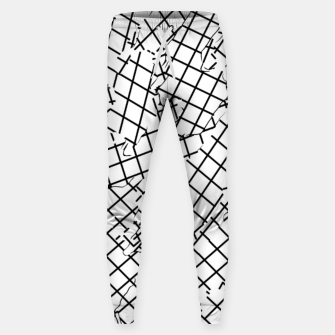 Thumbnail image of geometric square shape abstract background in black and white Sweatpants, Live Heroes