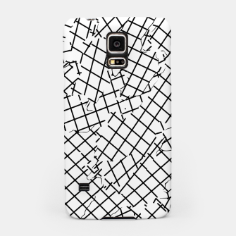 Thumbnail image of geometric square shape abstract background in black and white Samsung Case, Live Heroes