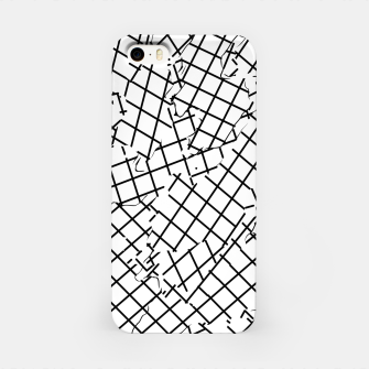 Thumbnail image of geometric square shape abstract background in black and white iPhone Case, Live Heroes