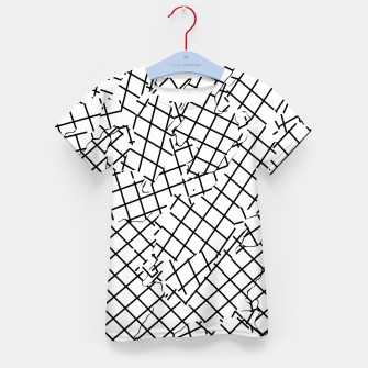 Thumbnail image of geometric square shape abstract background in black and white Kid's t-shirt, Live Heroes