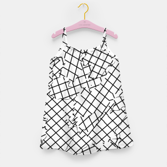 Thumbnail image of geometric square shape abstract background in black and white Girl's dress, Live Heroes